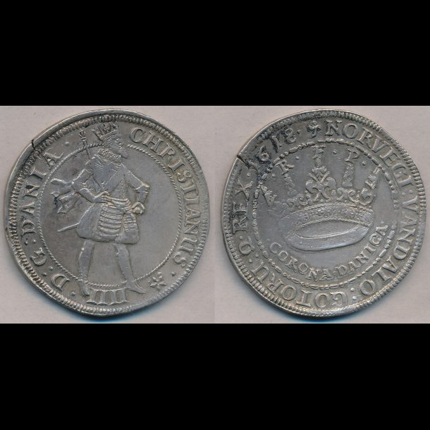 1618, Christian IV, CORONA DANICA, 1++, H105A