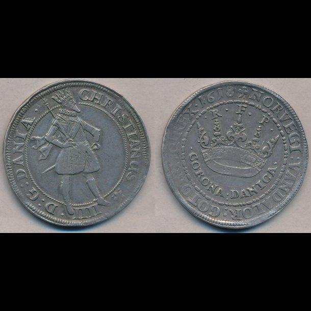 1618, Christian IV, CORONA DANICA, 1+