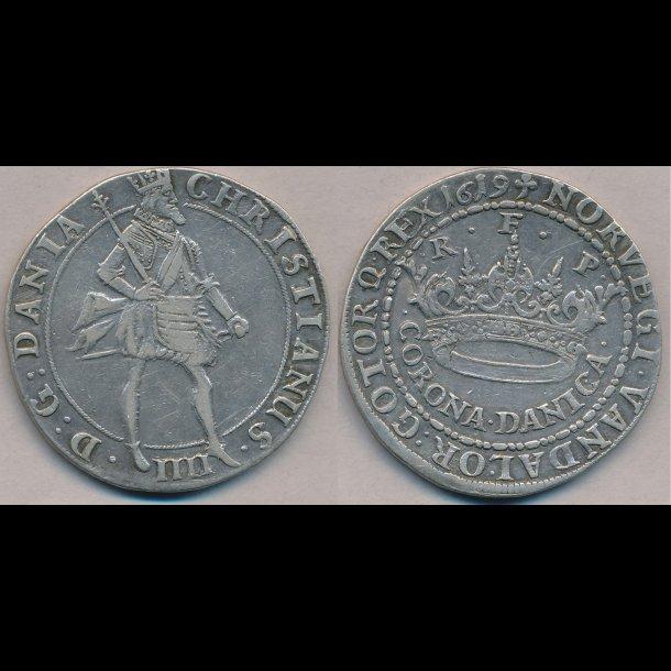 1619, Christian IV, CORONA DANICA, 1+, H105A
