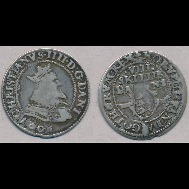 1606, Christian IV, 8 skilling, H93A