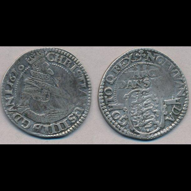 1616, Christian IV, 1 marck, H99C, 1+