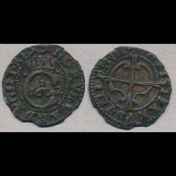 1602, Christian IV, 1 hvid, H86
