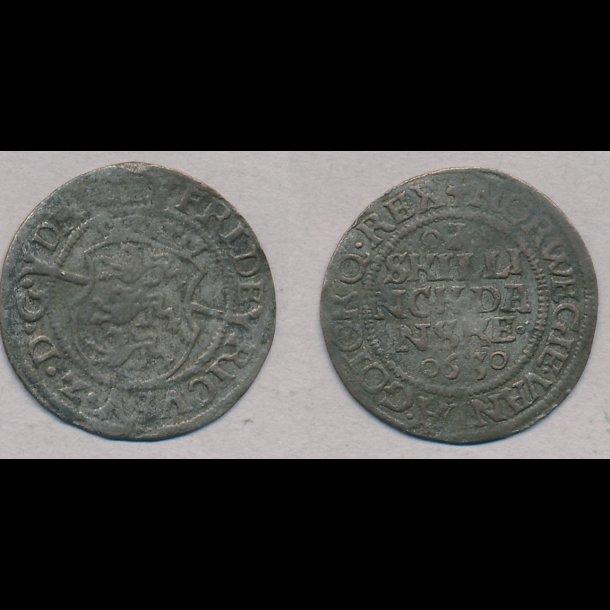 1563, Frederik II, I skilling,1, H12