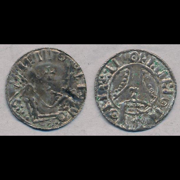 1035-1042, HardeKnud, penning, Ribe, 1+, Hauberg 49