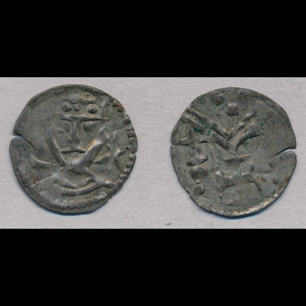 1182-1202, Knud VI, penning, Nørre Jylland, 1+, Galster 19