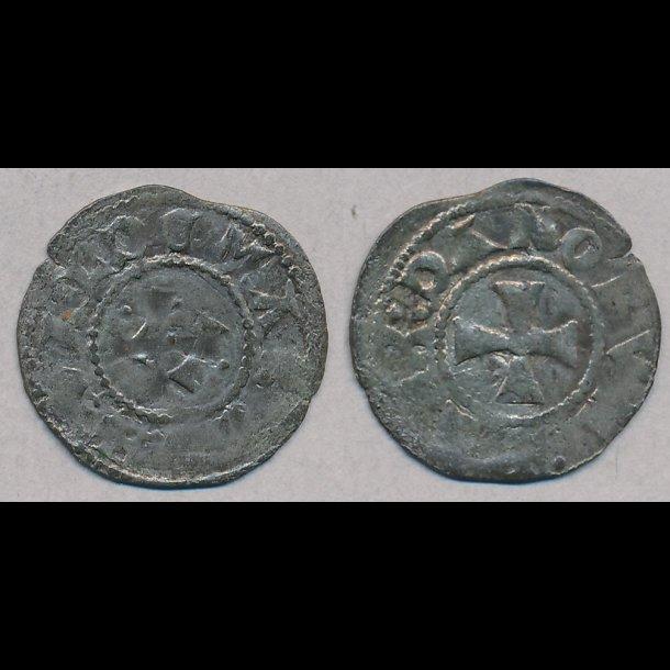 1202-1241, Valdemar II Sejr, penning, Ribe, 1+ / 1, Hauberg 42B