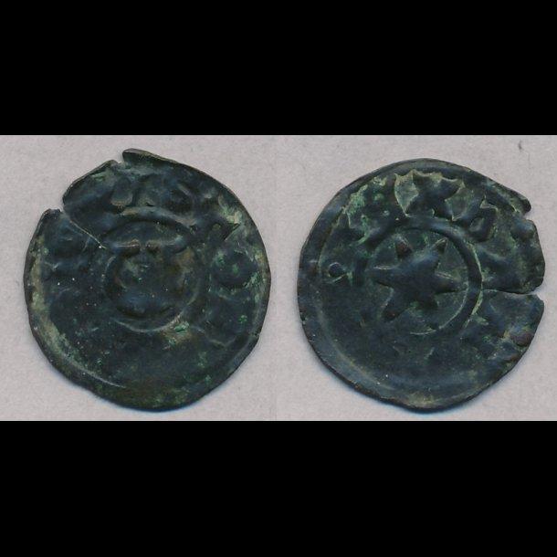 1252-1259, Christoffer I, penning, Ribe, 1+ / 1, MB/KGH95