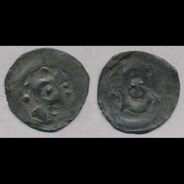 1286-1319, Erik Menved, penning, Roskilde?, 1+, MB 338