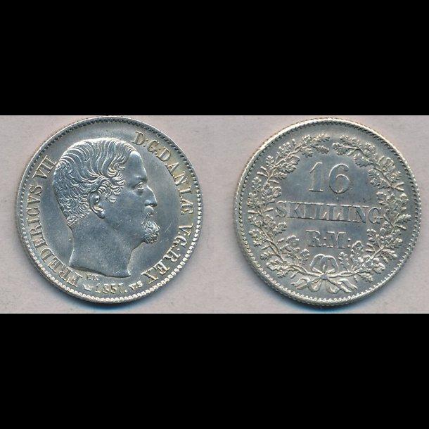 1857, Frederik VII, 16 Skilling, 01