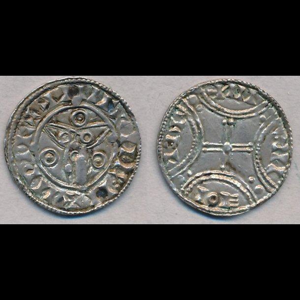 1047-1075, Svend Estridsen, penning, Roskilde, 1+,  H36