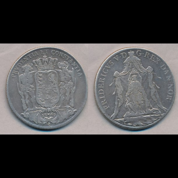 1747, Frederik V, specie, København, 1, S16, H25