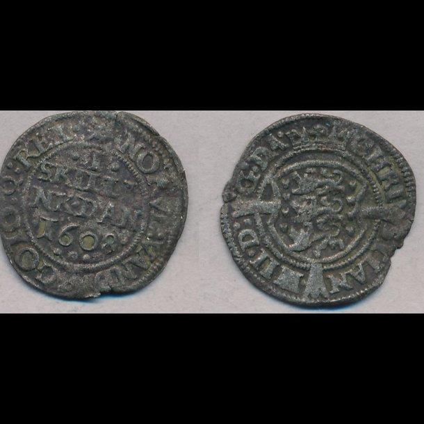 1608, Christian IV, 1 skilling, 1, S21.5, H 80C