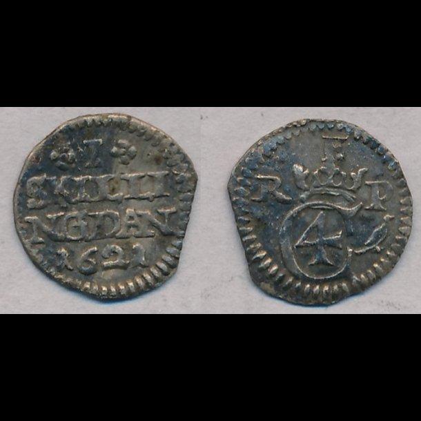 1621, Christian IV, 1 skilling, 1+, S 24.2, H 119B