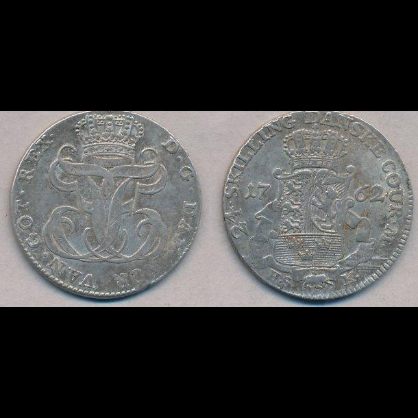 1762, Frederik V, 24 skilling, 1+, H 35B