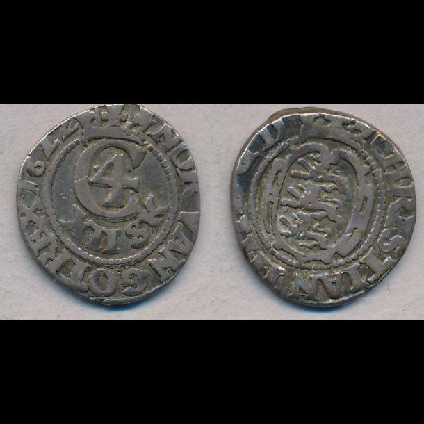 1622, Christian IV, 12 skilling, 1+, S 61, H 121