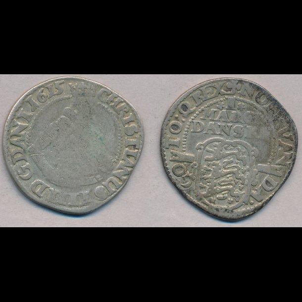 1615, Christian IV, 1 mark, 1 / 1-, S 68.3, H 99C