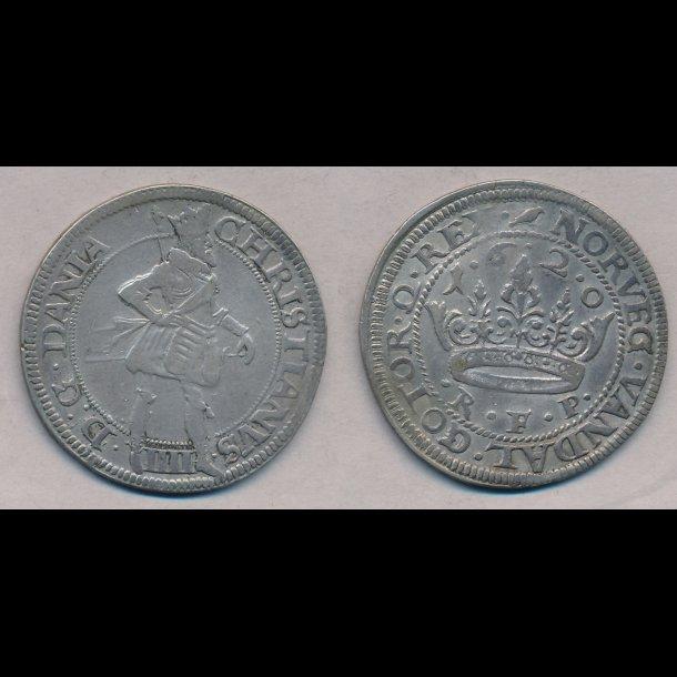 1620, Christian IV, 1 krone, 1+, S 84.12, H 106C