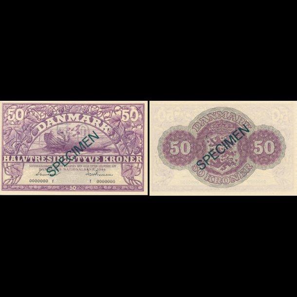 1944, 50 kroner, nr. 0000000, 0, Sieg 123