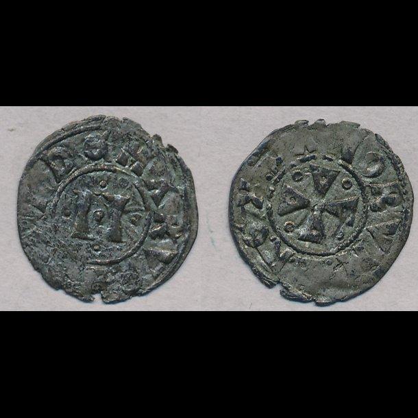 1202-1241, Valdemar II, penning, Ribe, 1+ / 01, G42b