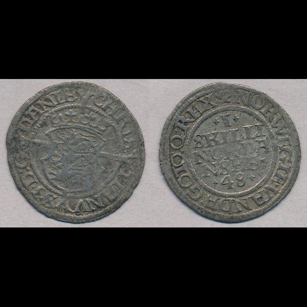 1548, Christian III, 1 skilling