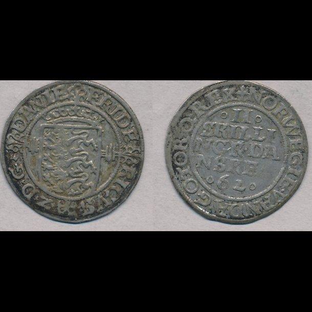 1562, Frederik II, 2 skilling, 1+