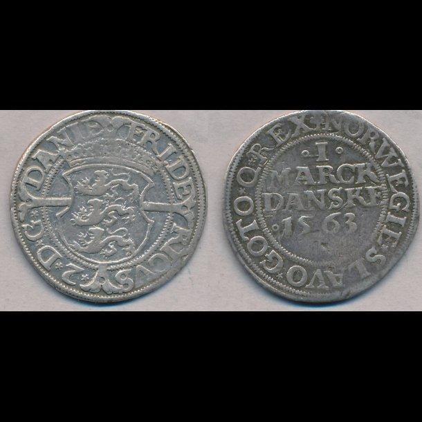 1563, Frederik II, 1 marck, 1, H9B