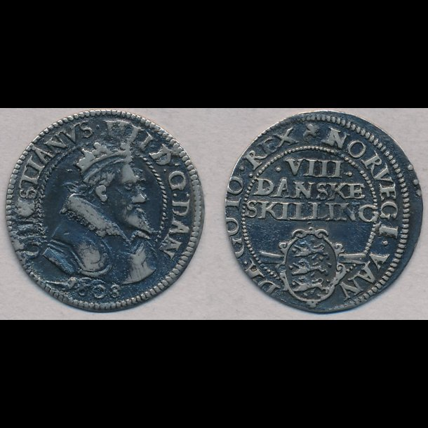 1608, Christian IV, 8 skilling, H93A, S54.2