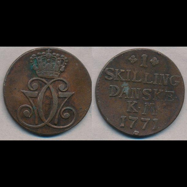 1771, Christian VII, 1 skilling