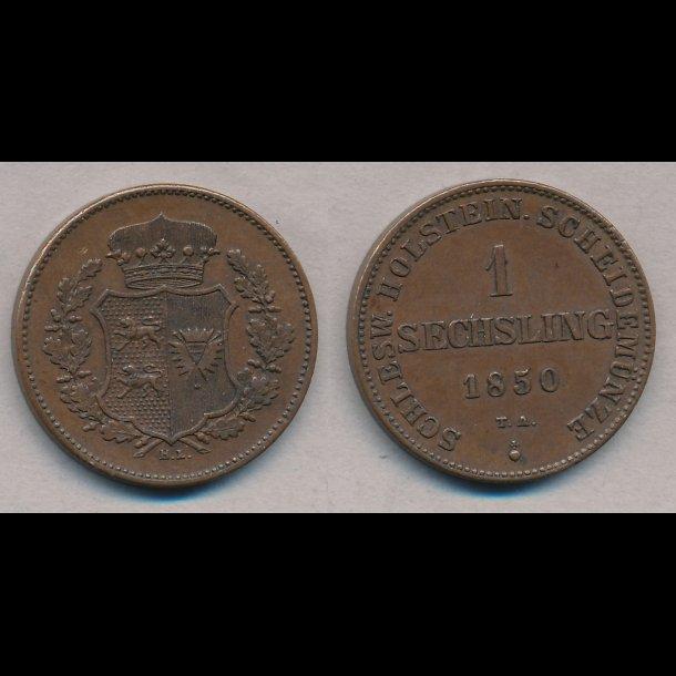 1850, Frederik VII, 1 Sechsling, 1++