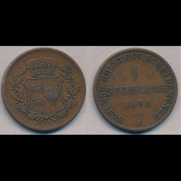 1850, Frederik VII, 1 Sechsling, 1+