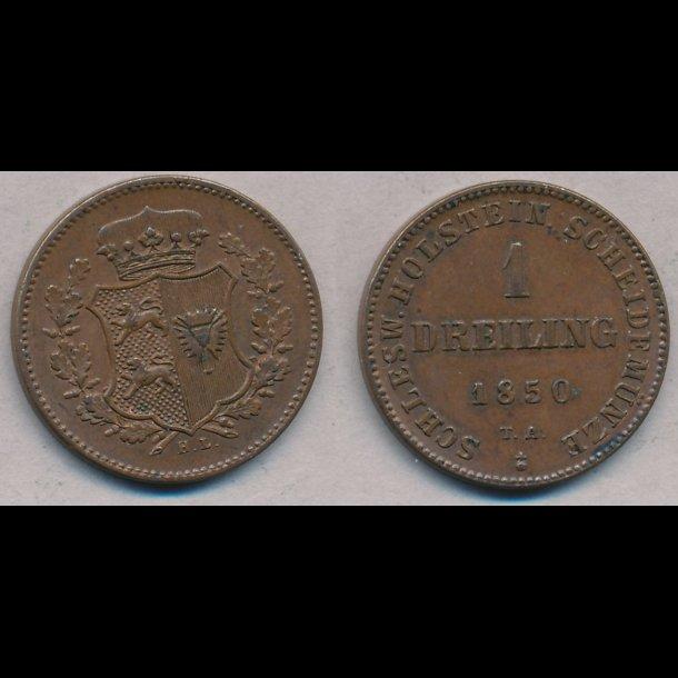 1850, Frederik VII, 1 Dreiling, 1++