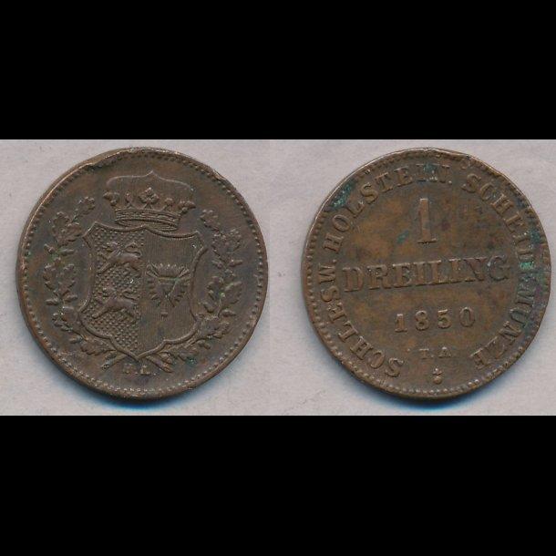 1850, Frederik VII, 1 Dreiling, 1