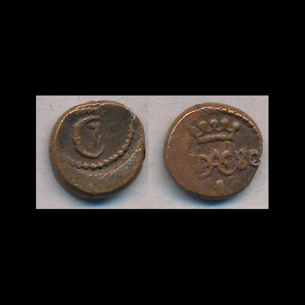 1780, Christian VII, Trankebar, 1 kas, kobber, 1+