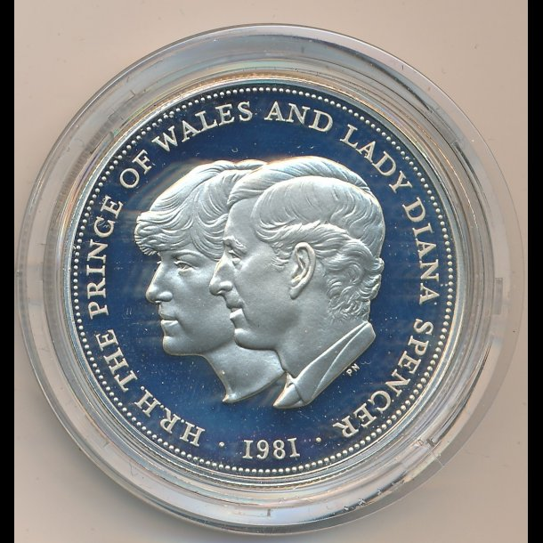 1981, England, Sliver proof coin commemorating the marrige