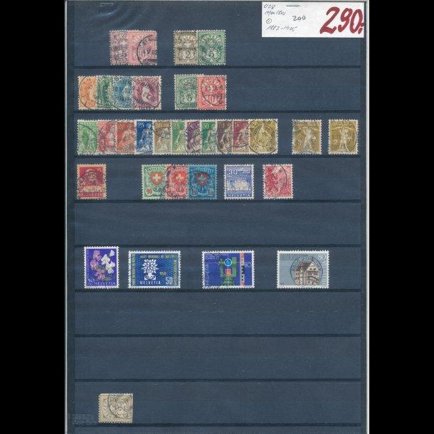 1882-1925, Schweiz planche, O