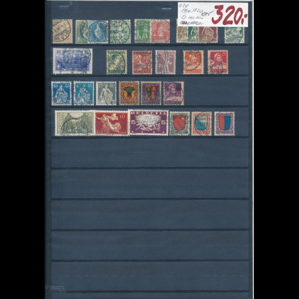 1882-1920, Schweiz planche, O,