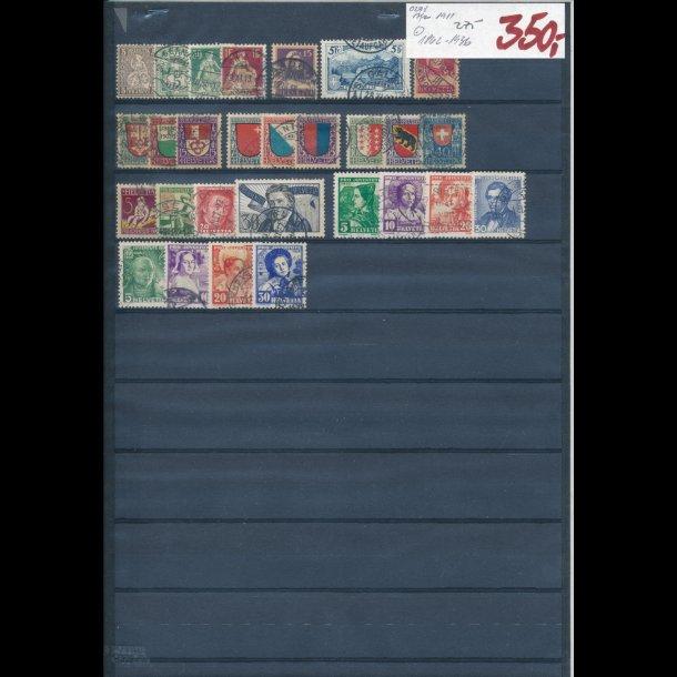 1862-1936, Schweiz planche, O