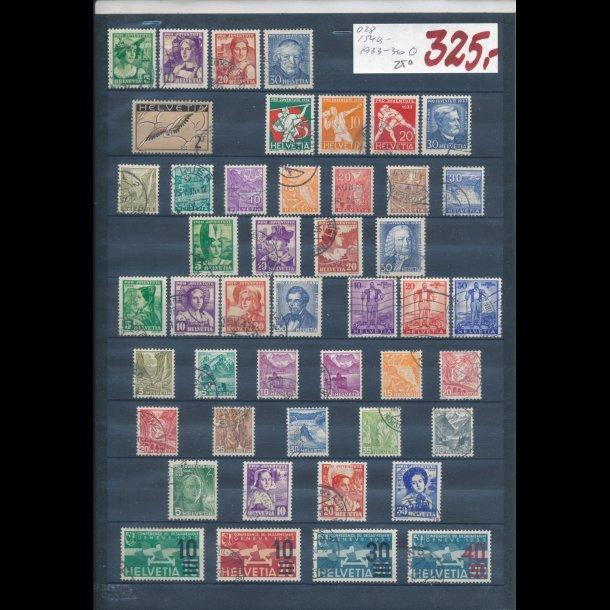 1933-36, Schweiz planche, O