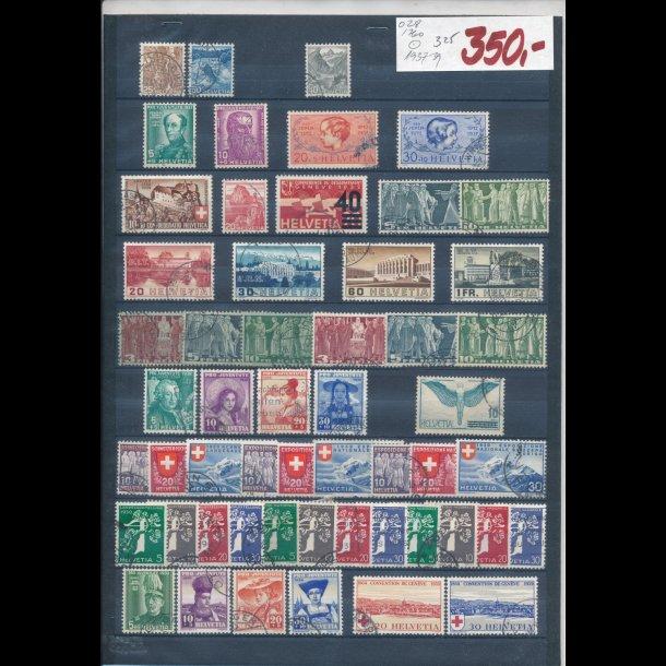 1937-39, Schweiz planche, O