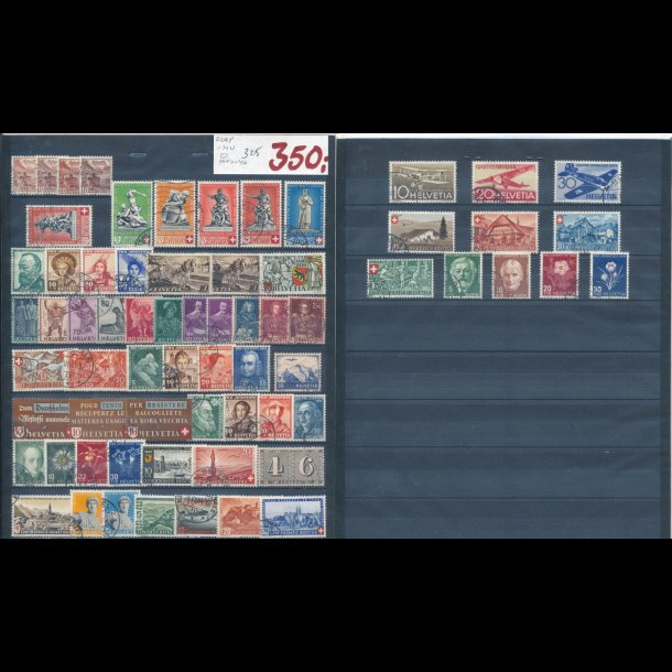 1940-46, Schweiz planche, O