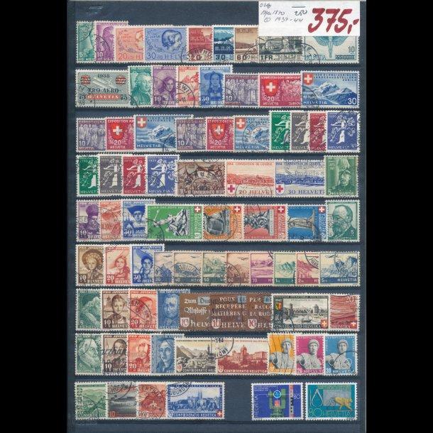1937-44, Schweiz planche, O