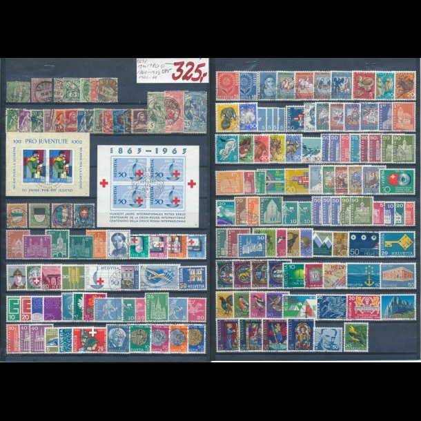 1867-1922, og 1962-69, Schweiz planche, O