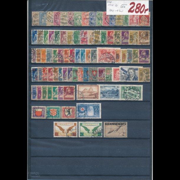 1862-1930, Schweiz planche, O