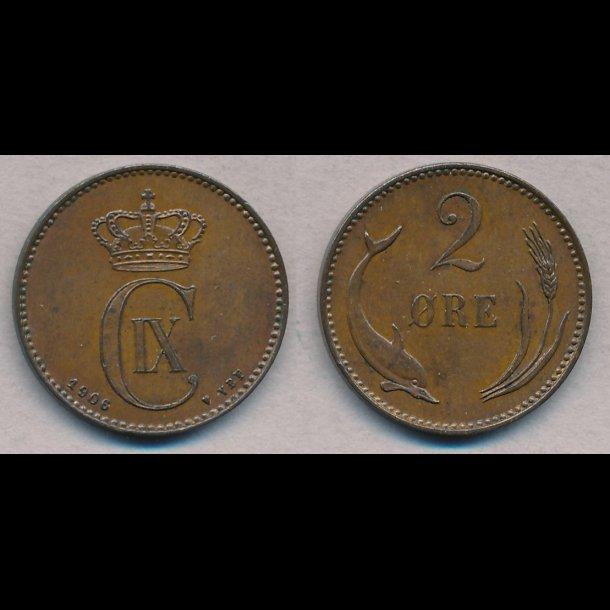 1906, Christian IX, 2 øre, 01