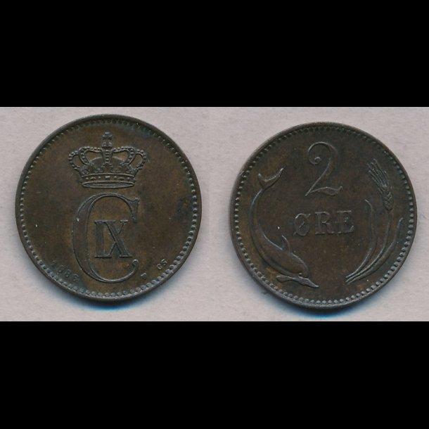 1886, 2 øre, 1++