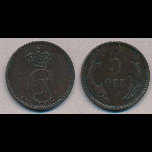 1894, 5 øre, 1+
