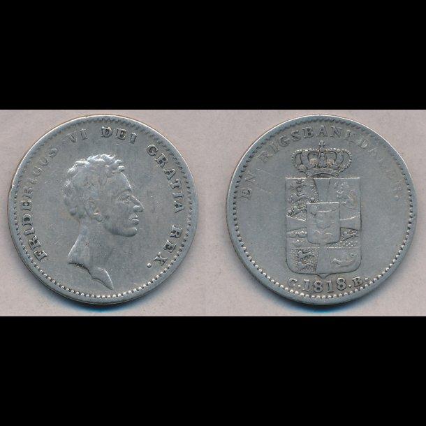 1818, Frederik VI, 1 rigsbankdaler, H24D