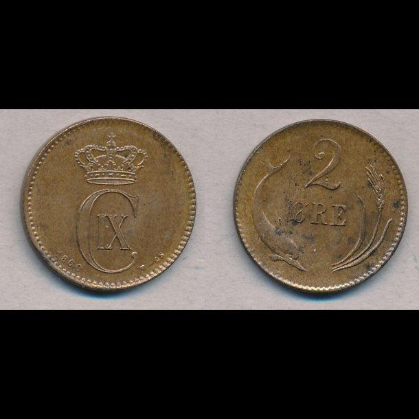 1880, Christian IX, 2 øre, 01