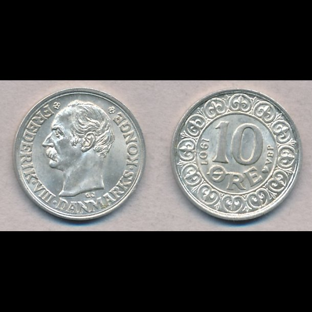 1907, Frederik VIII, 10 øre, 0