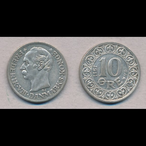 1911, Frederik VIII, 10 øre